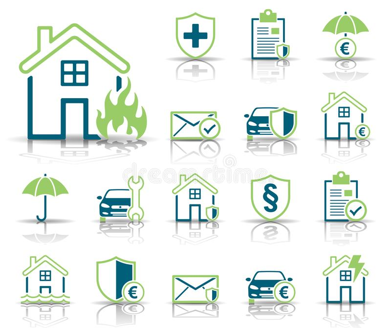 Страхование & защита - Iconset - значки бесплатная иллюстрация