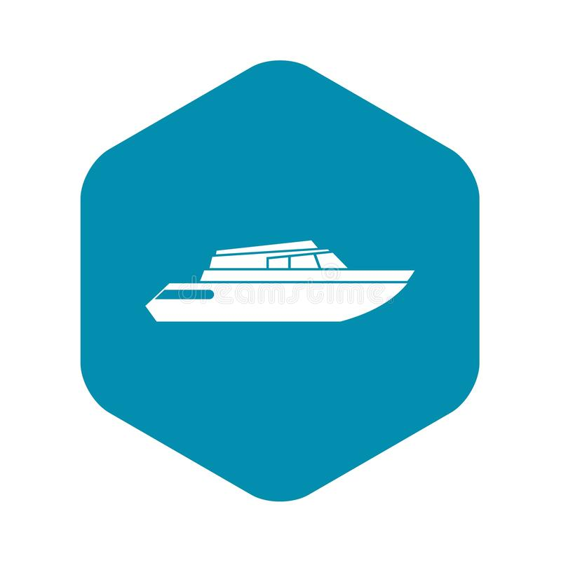 Строгая значок powerboat, простой стиль иллюстрация вектора