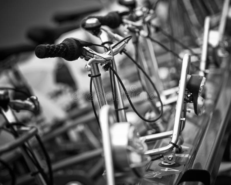Строка велосипедов, Барселона стоковое фото rf