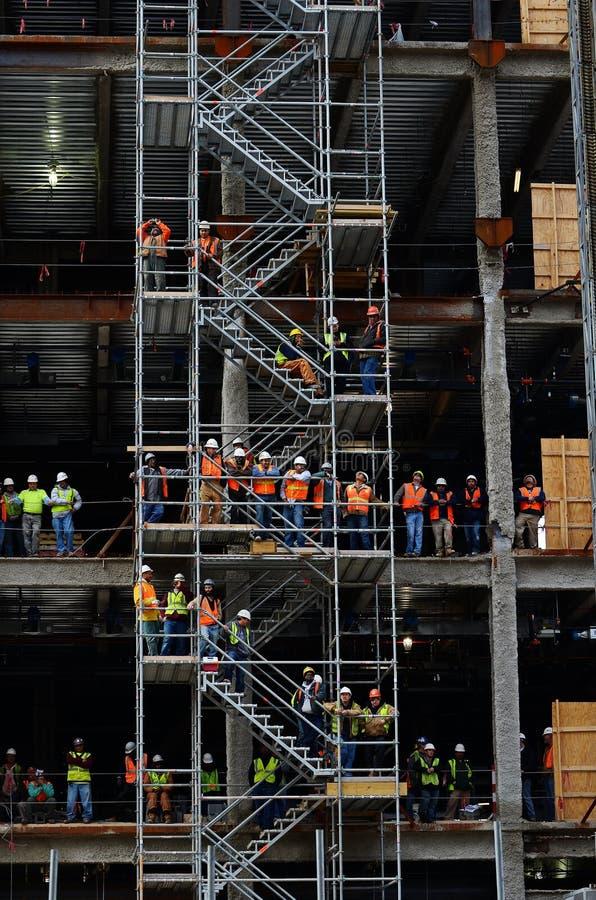 строящ в городском Raleigh, NC стоковое изображение rf