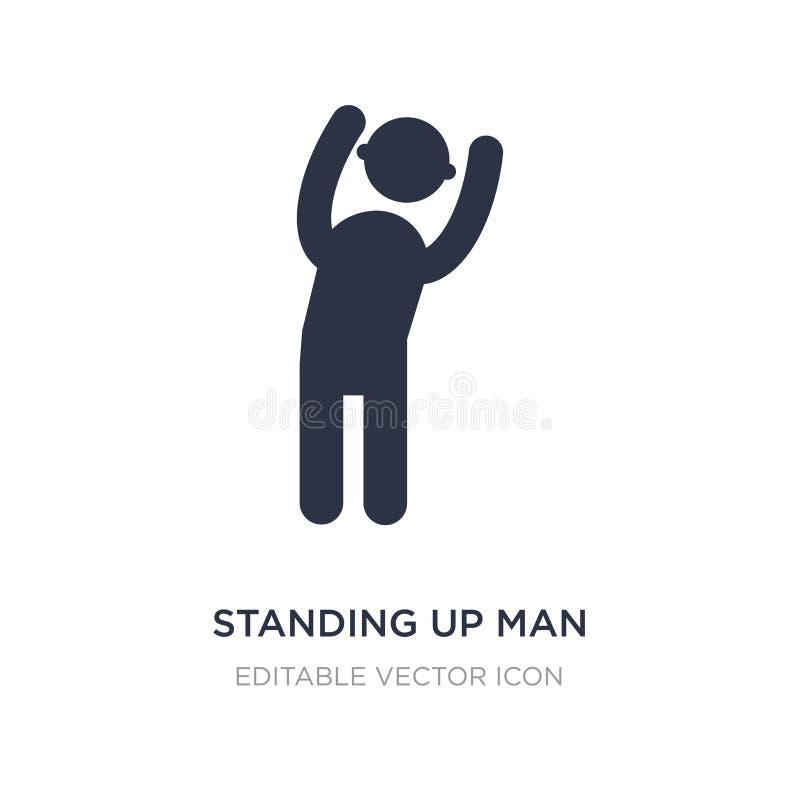 стоять вверх значок человека на белой предпосылке Простая иллюстрация элемента от концепции людей иллюстрация вектора