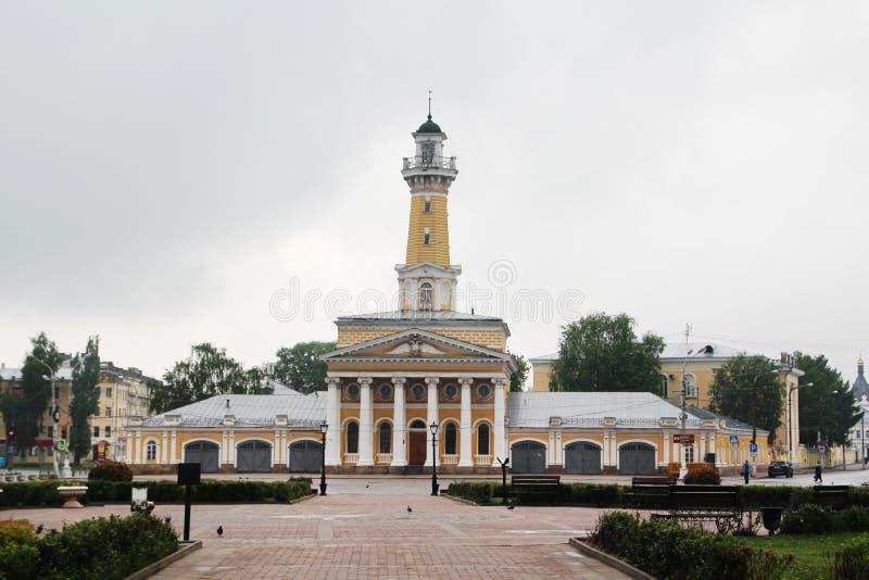 сторожевая башня Огн-замечания в Kostroma стоковые фотографии rf