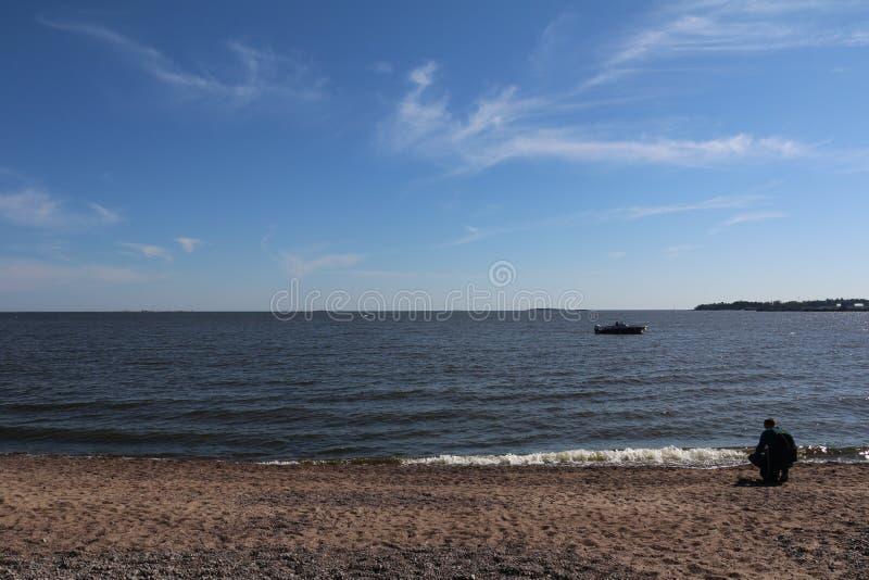 Сторона моря в Хельсинки Финляндии стоковые изображения