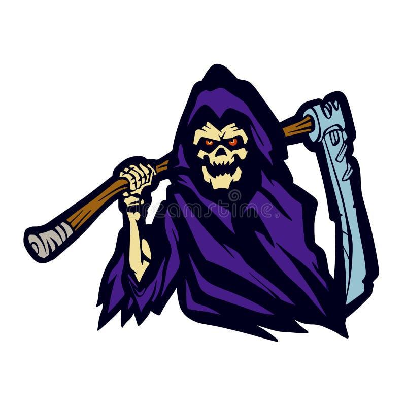 Сторона призрака мрачного жнеца пурпурная сердитая бесплатная иллюстрация