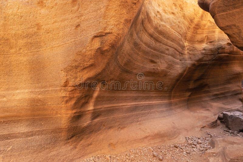Сценарный каньон известняка, Barranco de las Vacas в Гран-Канарии, Канарских островах Испании стоковые изображения rf