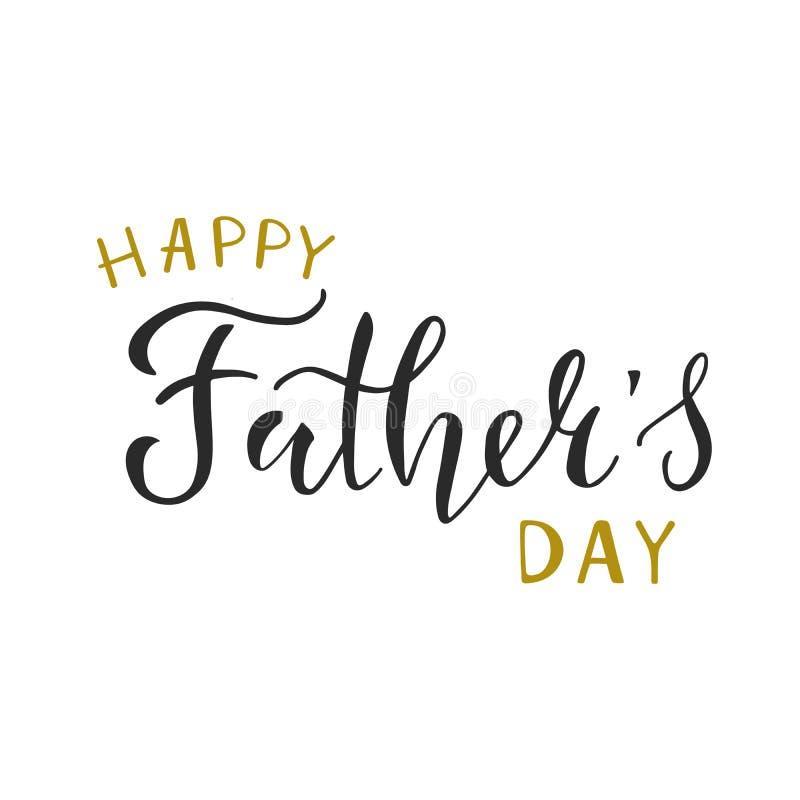 Счастливая фраза оформления Дня отца, вдохновляющая цитата, лозунг Дизайн для плаката, поздравительные открытки шаблона, знамя иллюстрация штока
