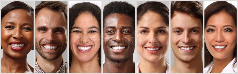 Счастливые стороны людей стоковое изображение