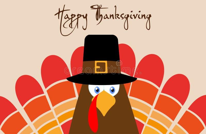 Счастливый плакат поздравительной открытки дизайна иллюстрации вектора дня благодарения иллюстрация вектора