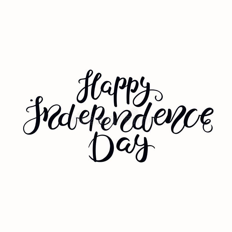 Счастливый День независимости помечая буквами цитату иллюстрация штока