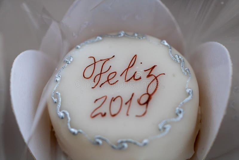 Счастливый торт 2019 Нового Года стоковое изображение