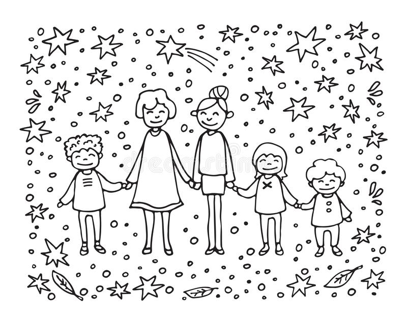 Счастливое family-12 иллюстрация штока