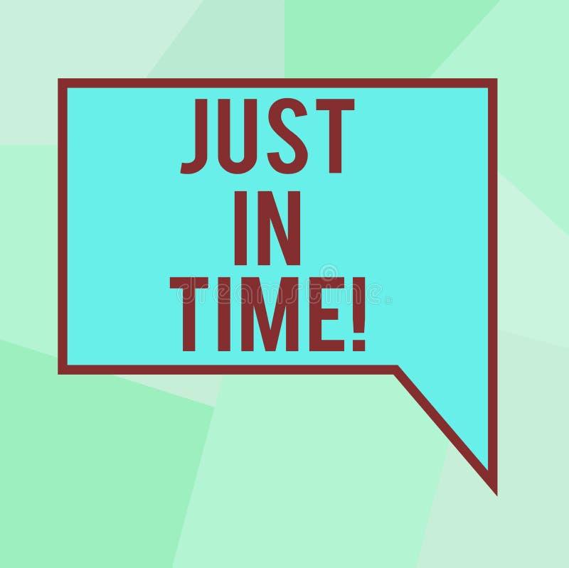 Схематический показ сочинительства руки как раз вовремя Текст фото дела приезжая точно на ответственность пунктуальности часа нео иллюстрация штока