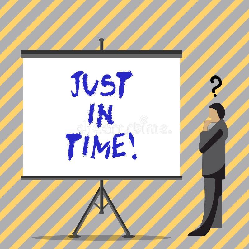 Схематический показ сочинительства руки как раз вовремя Текст фото дела приезжая точно на пунктуальность часа необходимую бесплатная иллюстрация