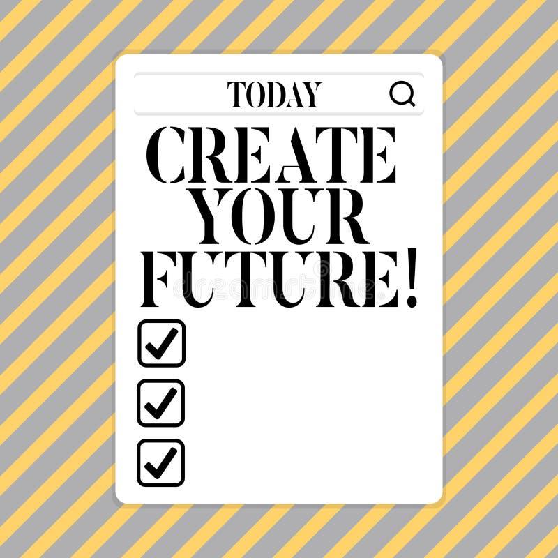 Схематический показ сочинительства руки создает ваше будущее Карьера фото дела showcasing цели целится планы набора улучшения бесплатная иллюстрация