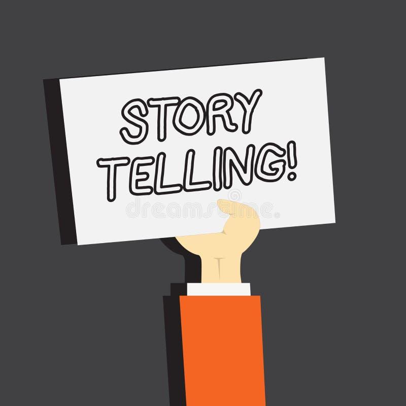 Схематическое сочинительство руки показывая говорить рассказа Showcasing фото дела говорит или пишет рассказы делит личное бесплатная иллюстрация