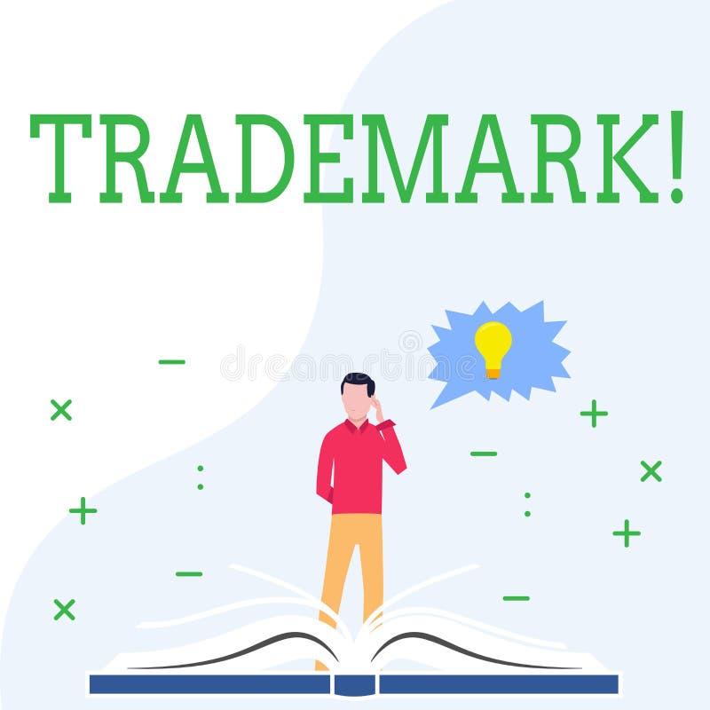 Схематическое сочинительство руки показывая товарный знак Фото дела showcasing законно зарегистрированная интеллектуальная собств бесплатная иллюстрация