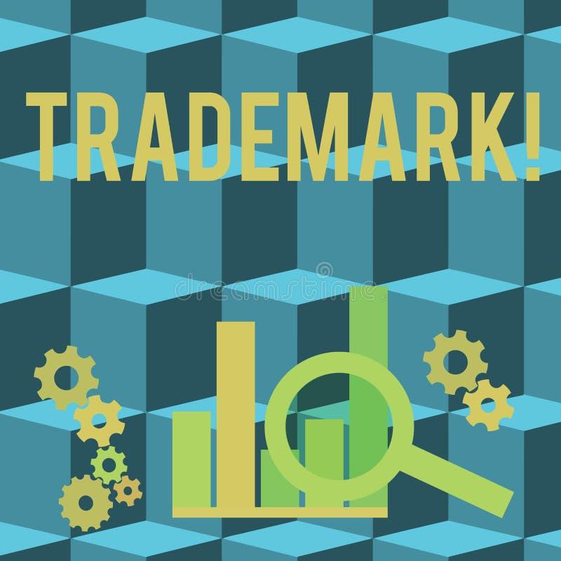 Схематическое сочинительство руки показывая товарный знак Фото дела showcasing законно зарегистрировало предохранение от интеллек иллюстрация штока