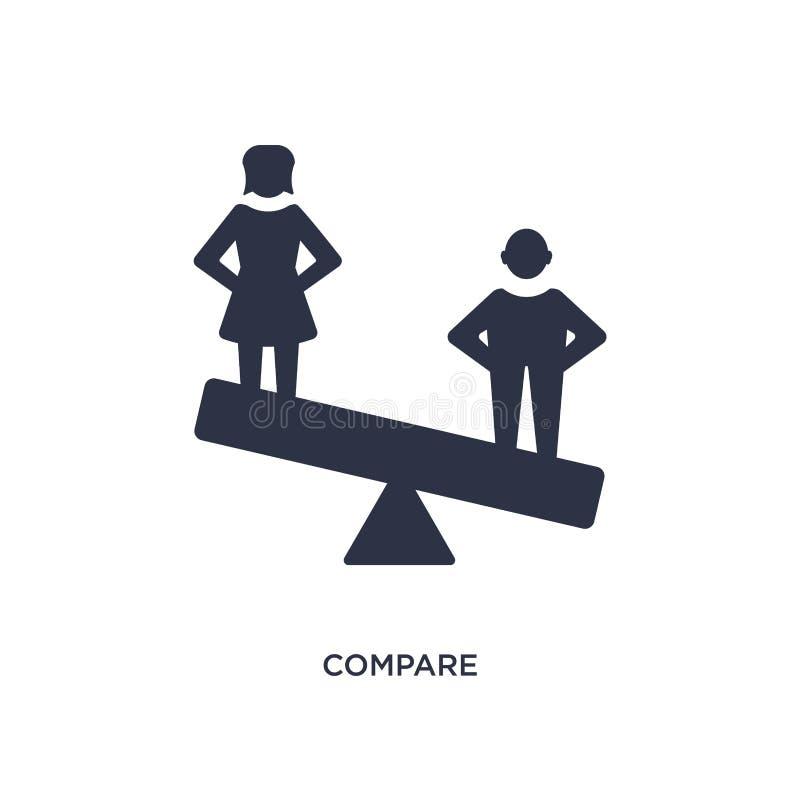 сравните значок на белой предпосылке Простая иллюстрация элемента от концепции человеческих ресурсов иллюстрация штока