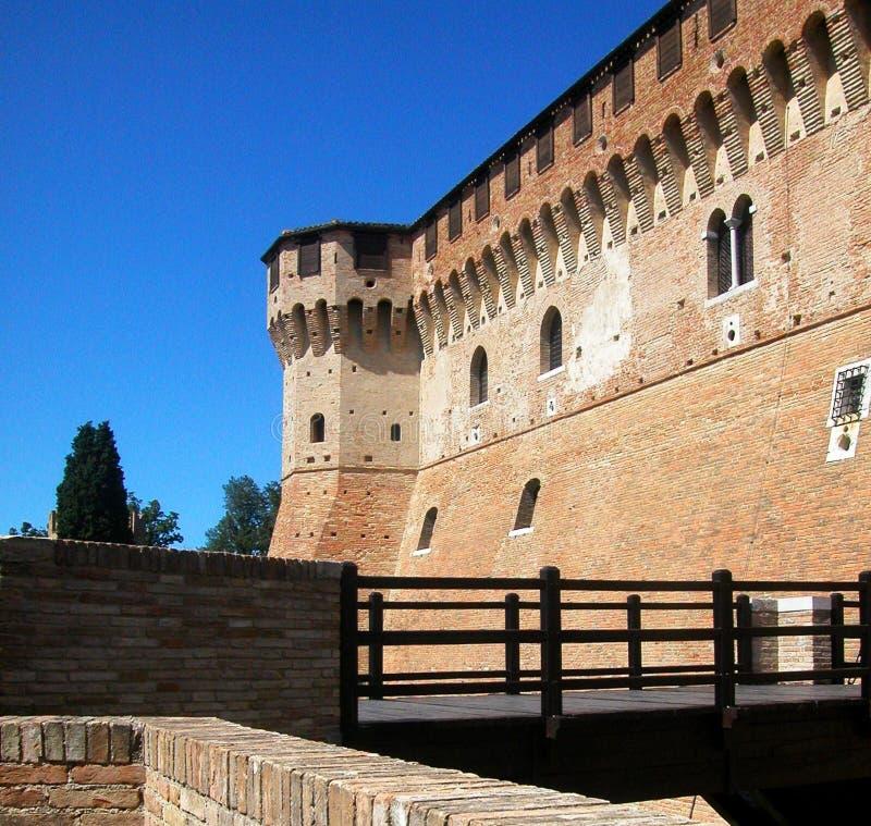 Средневековая замк-крепость Gradara, Марша, Италии стоковые изображения