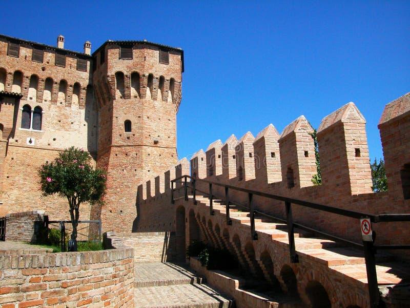 Средневековая замк-крепость Gradara, Марша, Италии стоковое фото rf