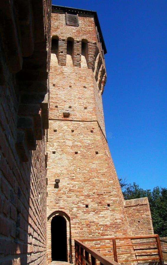 Средневековая замк-крепость Gradara, Марша, Италии стоковые фото