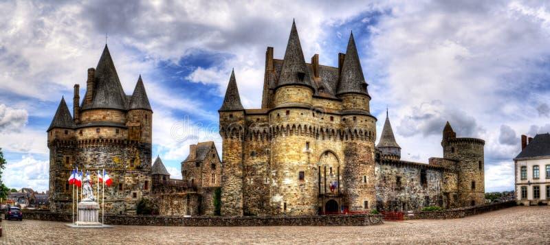 Средневековый замок в городке Vitre стоковое изображение