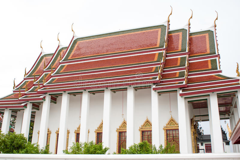 Ð¡arved oriental buildings in Bangkok temple. Thailand stock photography