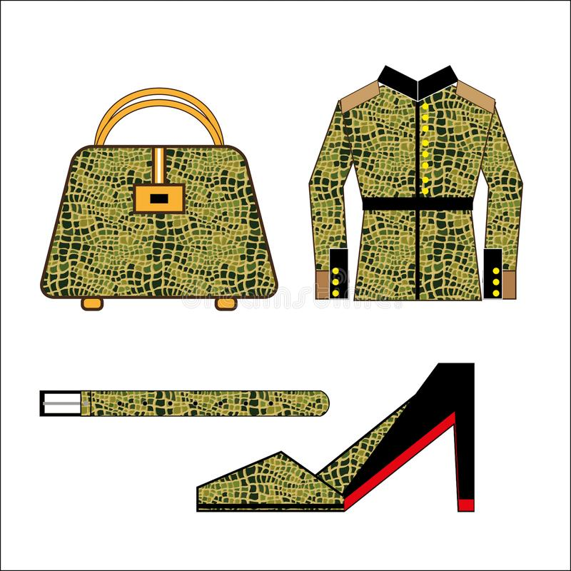 Ð¡lothing and leather accessories stock illustration