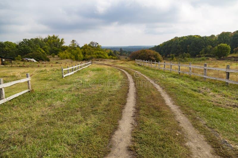 Ð¡olorful autumn rural scenery stock photo
