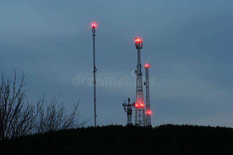 Ð¡ommunication towers stock photos