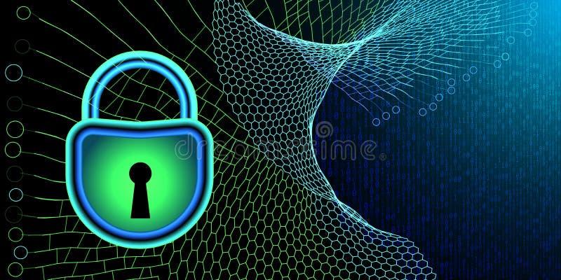 Ð¡oncept Internet cyber security. Cyber crime or prohibition background . Vector illustration royalty free illustration