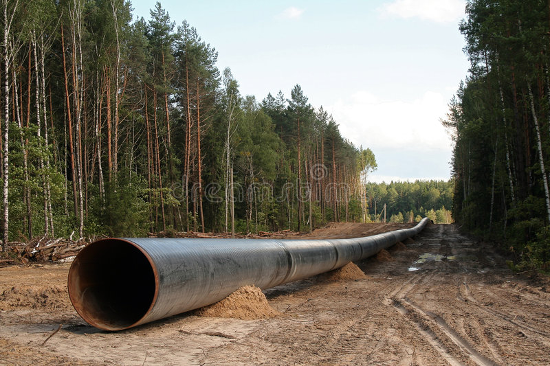 сonstruction of the pipeline royalty free stock photo