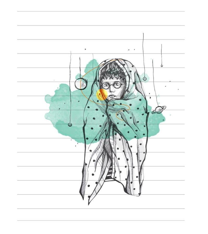 Ð¡osmonaut stock illustration