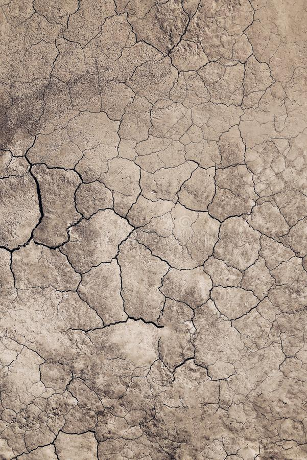 Ð¡racked, dry ground background, close up. royalty free stock image