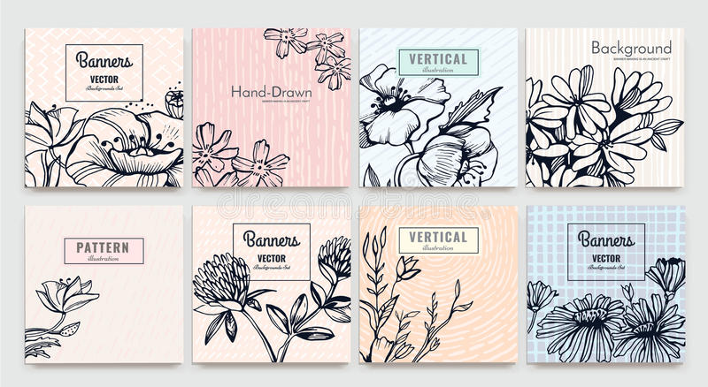 Сreative vector cards vector illustration