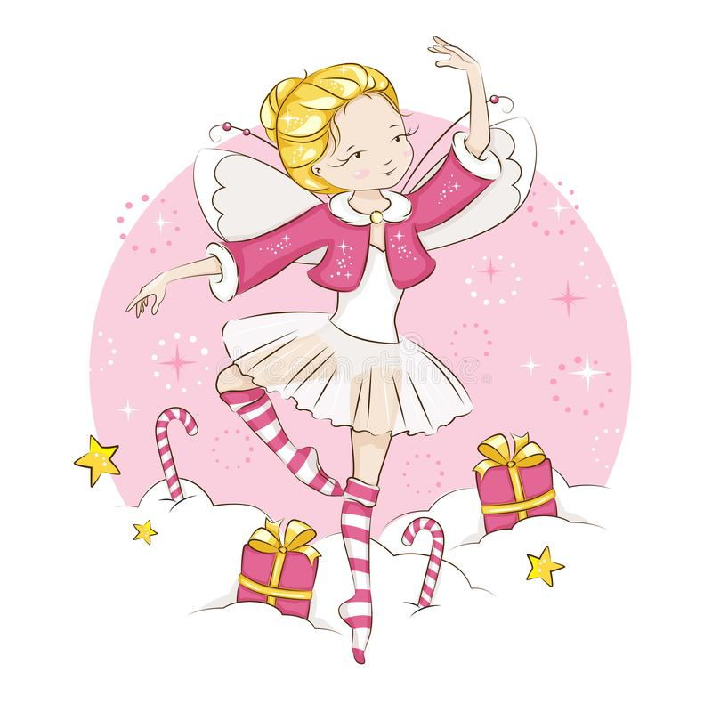 Ð¡ute Christmas fairy. royalty free illustration