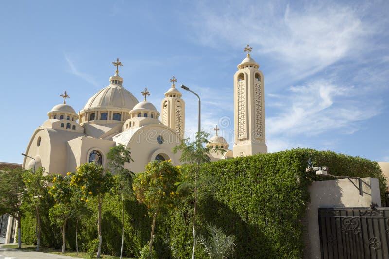 Экстерьер коптской православной церков церков в Sharm El Sheikh, Египте стоковое изображение rf
