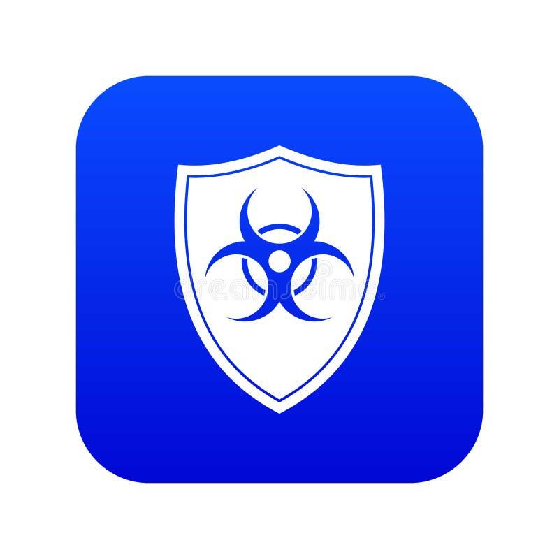 Экран с синью значка знака biohazard цифровой иллюстрация штока