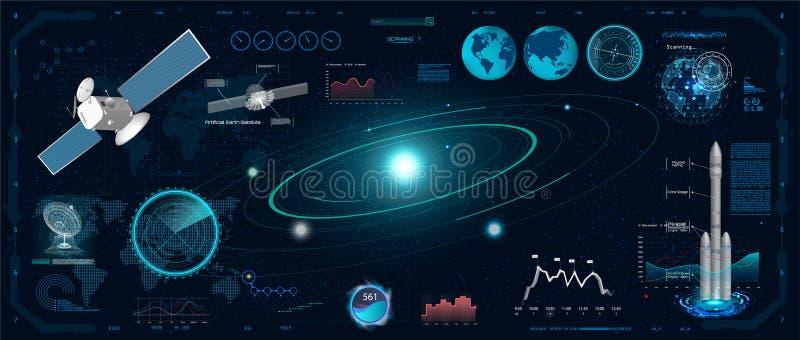 Экран радара в стиле HUD бесплатная иллюстрация