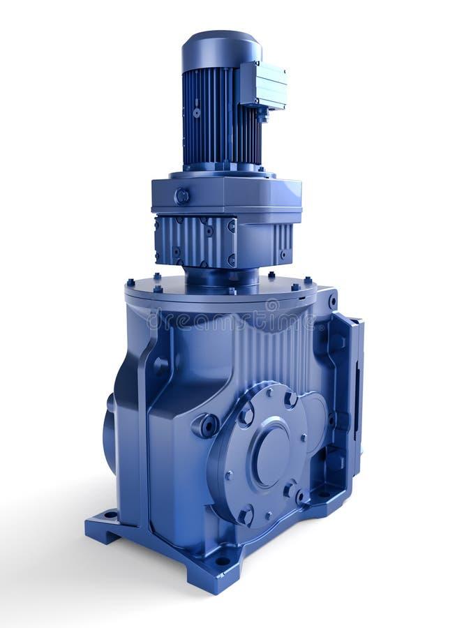 электрический промышленный мотор иллюстрация вектора