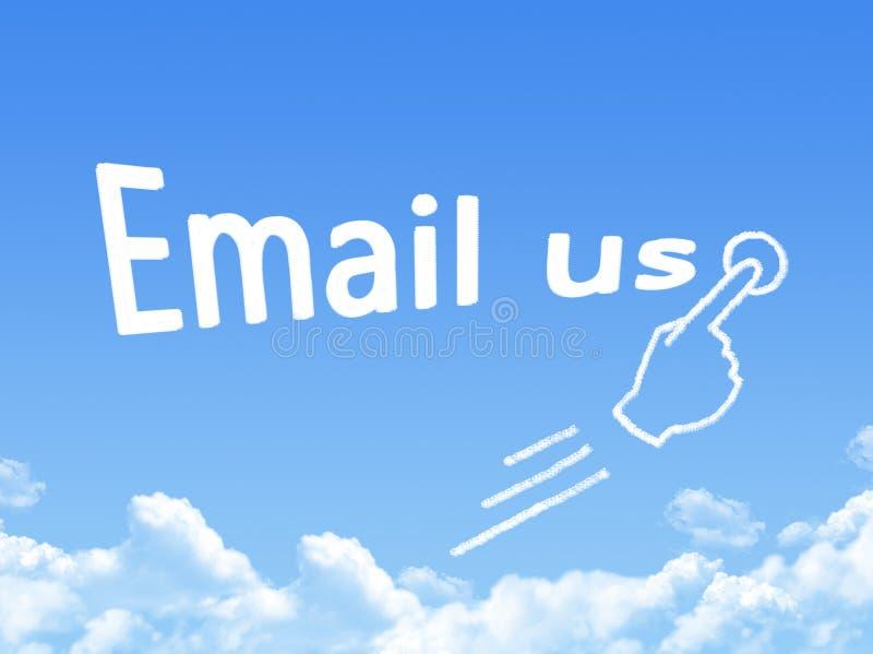Электронная почта мы форма облака сообщения иллюстрация вектора