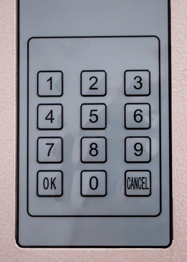 Электронный шкафчик штрихкода стоковая фотография rf