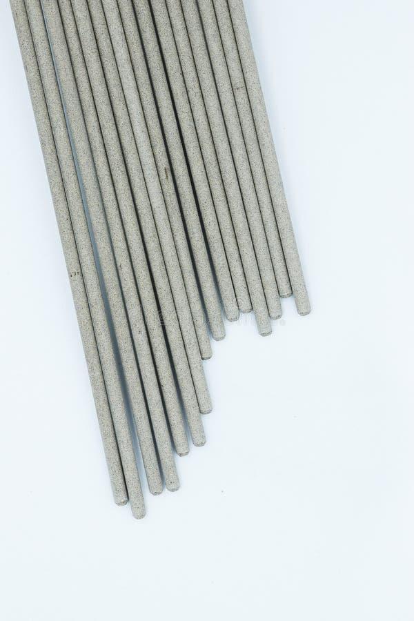Электрод заварки на белой предпосылке стоковые изображения
