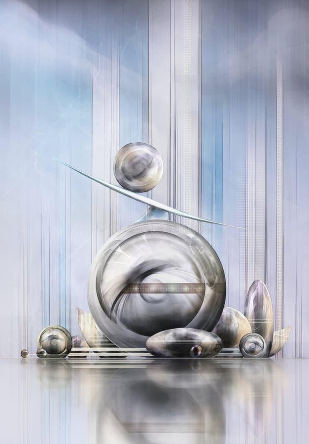 Элементы фантастический архитектурноакустический состоять из состава сферически, вертикальные и горизонтальные бесплатная иллюстрация