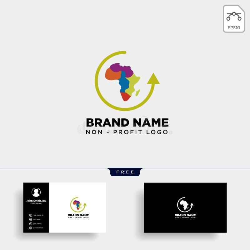 элемент значка иллюстрации вектора шаблона логотипа выгоды заботы Африки не изолировал иллюстрация штока