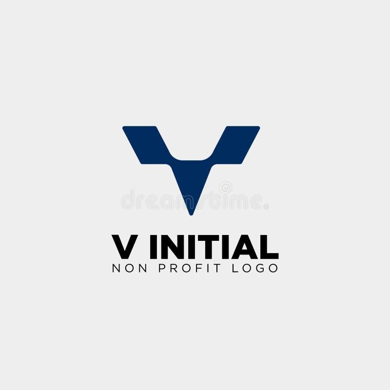 элемент значка иллюстрации вектора шаблона логотипа дела письма v творческий иллюстрация штока