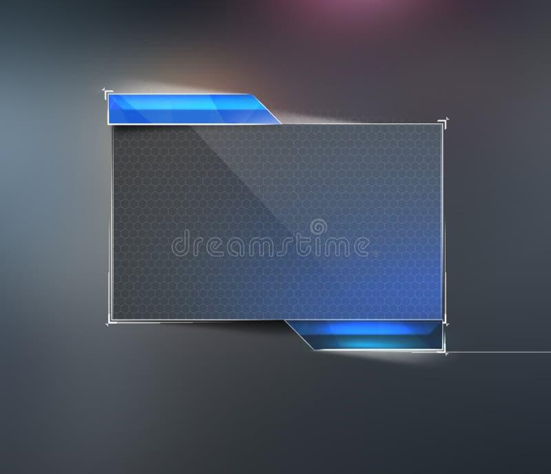 Элемент современного дизайна Приборный щиток для текста Пользовательский интерфейс для вашего вебсайта, знамя приборной панели Эл бесплатная иллюстрация