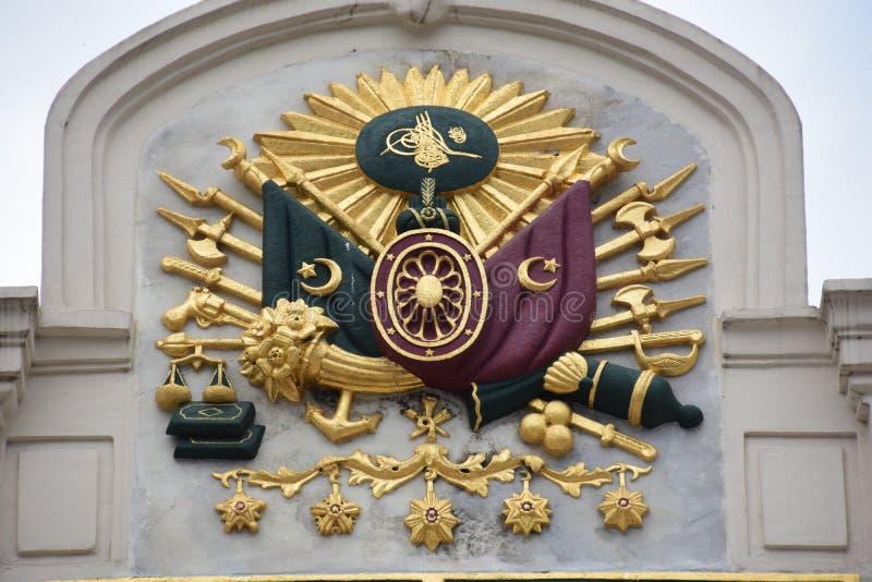 Эмблема империи Ottoman, старый турецкий символ стоковые изображения