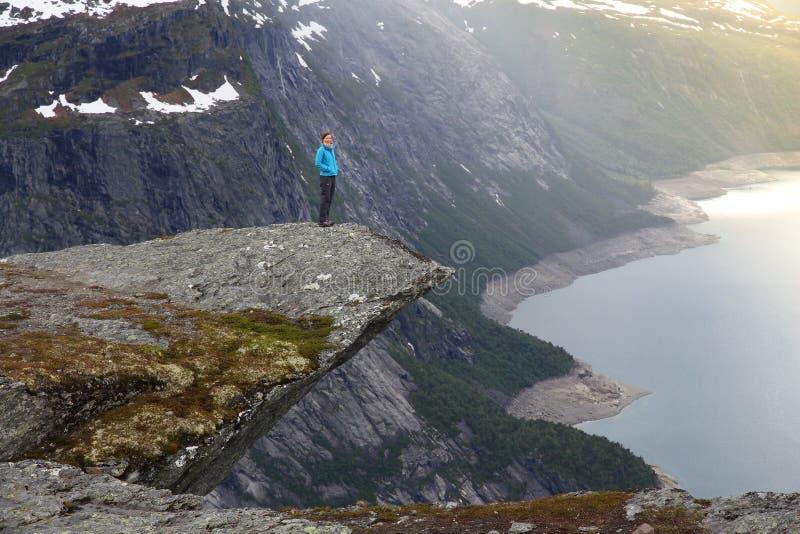 Язык тролля Норвегии стоковое фото