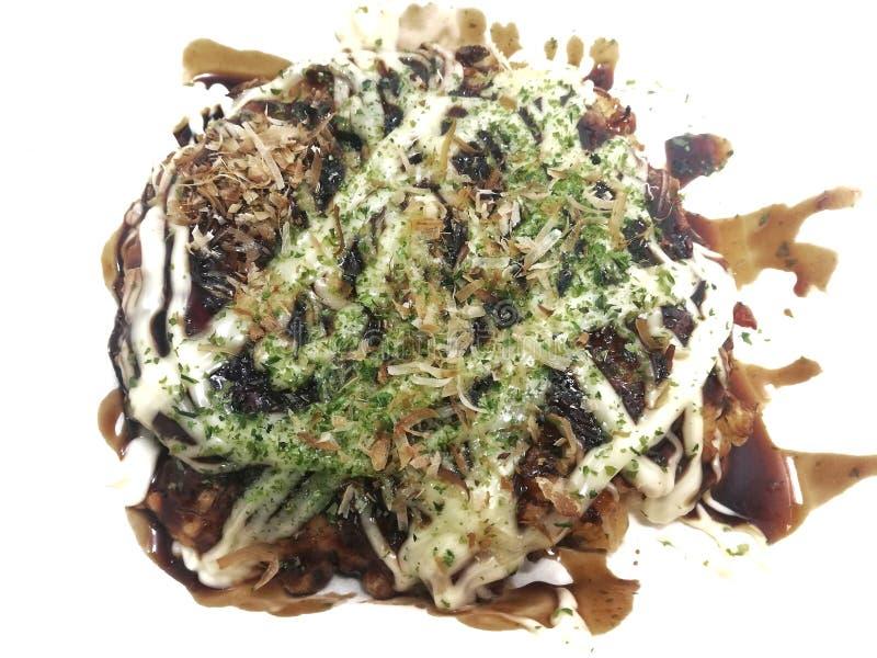 японская пицца Okonomiyaki японские блинчики стоковое изображение